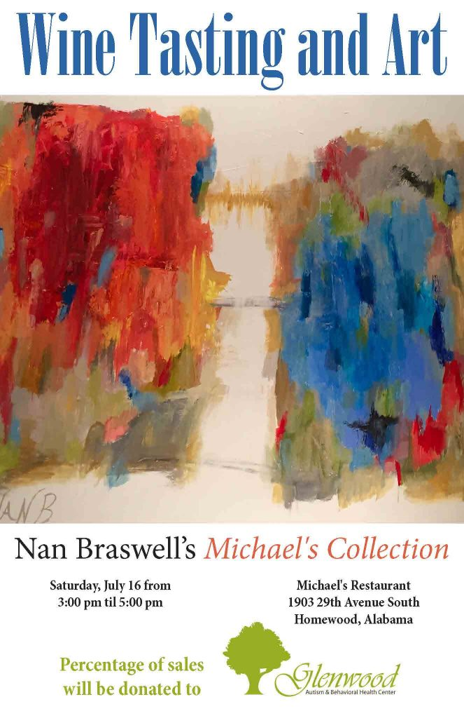 Nan Braswell Art and Wine Flyer